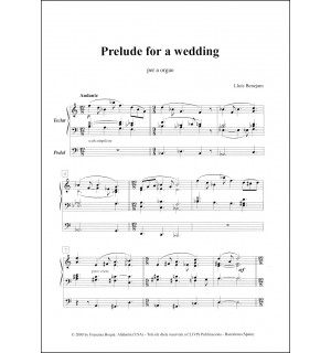 Prelude for a wedding