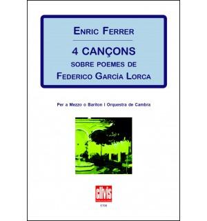4 cançons s/ poemes de F. García Lorca