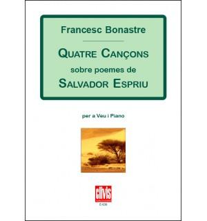 Quatre cançons sobre poemes de Salvador Espriu