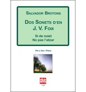 DOS SONETS DE J.V.FOIX