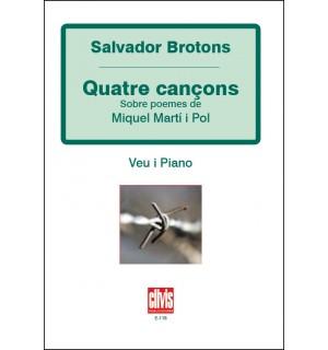 Quatre cancons de M. Marti i Pol Op.26