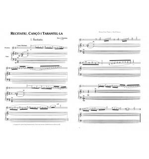 Recitatiu, cançó i tarantel·la