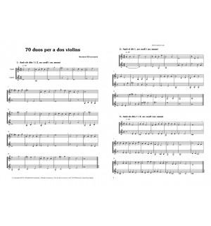 70 duos per a dos violins 1