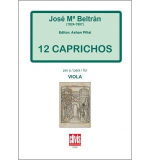 12 caprichos for viola